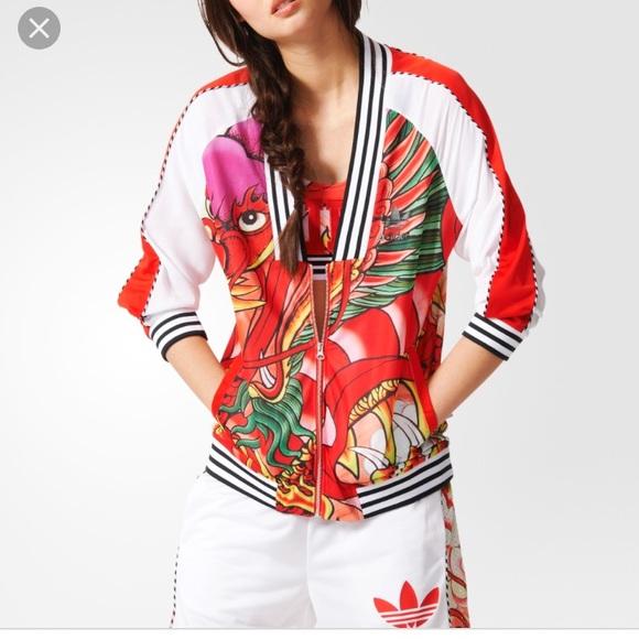 Adidas Rita Ora Dragon print track jacket